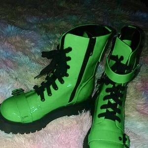 Green dolls kill boots